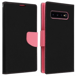 Fancy Style Cover Samsung Galaxy S10, Fach und Standfunktion - Rosa