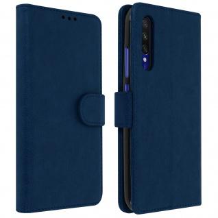 Flip Cover Geldbörse, Klappetui Kunstleder für Xiaomi Mi A3 â€? Dunkelblau