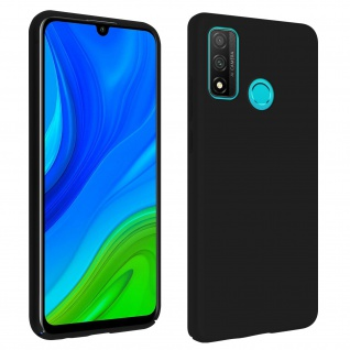 Halbsteife Silikon Handyhülle Huawei P smart 2020, Soft Touch - Schwarz