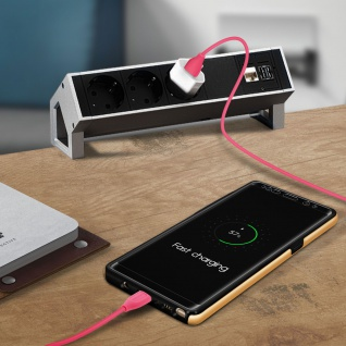 USB Typ-C auf USB Kabel, 1 Meter, Aufladen & Sync, Aluminium, Remax - Rosa - Vorschau 5