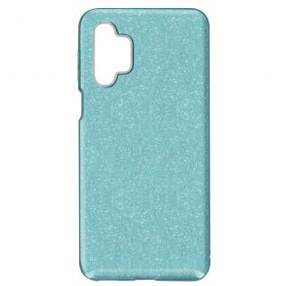 Schutzhülle, Glitter Case für Samsung Galaxy A32 â€? Türkisblau