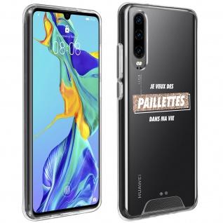 "Handyhülle für Huawei P30, Made in France ? "" Paillettes"" Design"