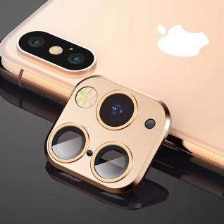 Apple iPhone 11 Pro goldener Fake Kamera Aufkleber für die Rückkamera aus Glas - Vorschau 3