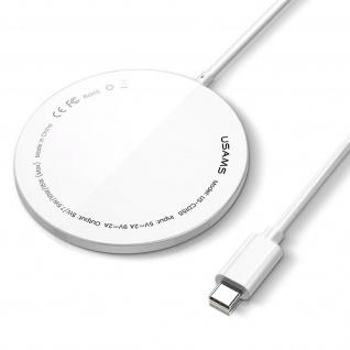 Magsafe Ladegerät, schnelles magnetisches kabelloses Ladegerät 15W, Usams - Weiß