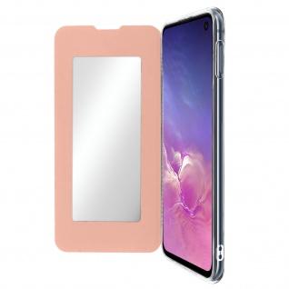 Spiegel Hülle, dünne Klapphülle für Samsung Galaxy S10e - Rosegold