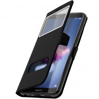 Huawei P Smart Plus Flip Cover mit Doppelfenster & Standfunktion - Schwarz - Vorschau 2