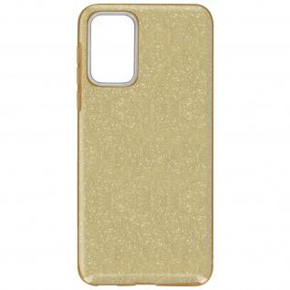 Schutzhülle, Glitter Case für Samsung Galaxy A72, shiny & girly Hülle â€? Gold