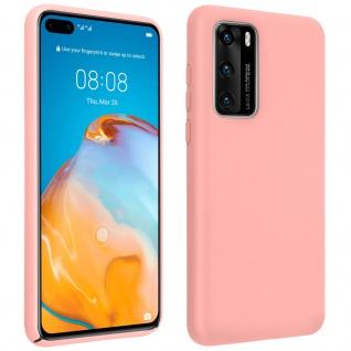 Halbsteife Silikon Handyhülle Huawei P40, Soft Touch - Rosa