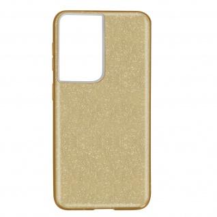Schutzhülle, Glitter Case Samsung Galaxy S21 Ultra, shiny & girly Hülle â€? Gold