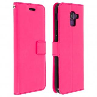 Flip Cover Stand Case Brieftasche & Standfunktion Samsung GalaxyJ6 - Fuchsienrot
