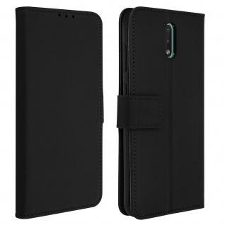 Nokia 2.3 Flip-Cover mit Kartenfächern & Standfunktion - Schwarz