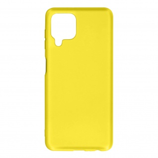Halbsteife Silikon Handyhülle für Samsung Galaxy A22, Soft Touch ? Gelb