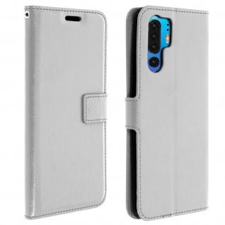 Flip Stand Cover Brieftasche & Standfunktion für Huawei P30 Pro - Weiß