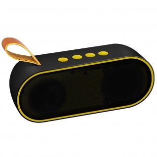 Bluetooth-Lautsprecher 3W 10 Std. Akkulaufzeit 3, 5 mm MicroSD-Eingang - Gelb