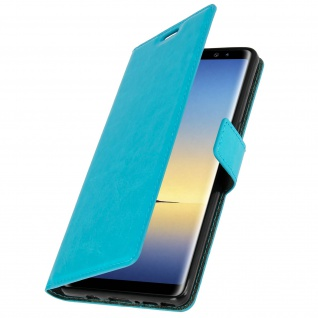 Flip Cover Stand Case Brieftasche & Standfunktion für Galaxy Note 8 - Blau