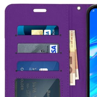 Flip Stand Cover Brieftasche & Standfunktion für Huawei Y7 2019 - Violett - Vorschau 5