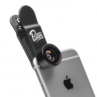 Pixter Kamera Objektiv Fisheye für Smartphones/Tablets - Schwarz
