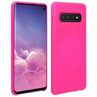 Halbsteife Silikon Handyhülle Samsung Galaxy S10, Soft Touch - Rosa