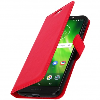 Flip Stand Cover Brieftasche & Standfunktion Motorola Moto G6 Play/E5 - Rot