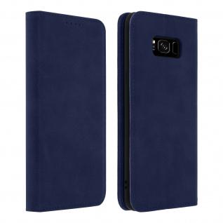 Flip Cover Geldbörse, Kunstleder Klappetui für Samsung Galaxy S8 ? Blau