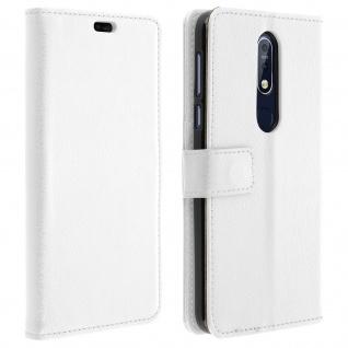 Nokia 7.1 Flip-Cover mit Kartenfächern & Standfunktion - Weiß