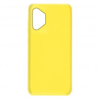 Halbsteife Silikon Handyhülle für Samsung Galaxy A32 5G, Soft Touch ? Gelb