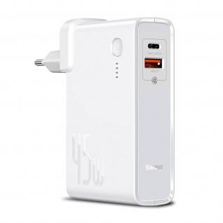 GaN 2-in-1 Powerbank 10.000mAh USB und USB-C Port Compact, Baseus â€? Weiß