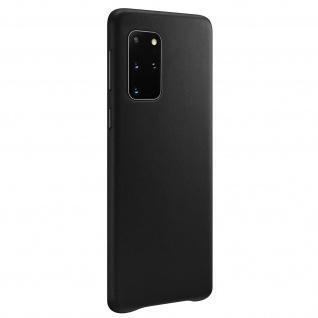 Schutzhülle Samsung Galaxy S20 Plus Leder Leather Cover, QI-kompatibel - Schwarz