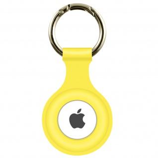 AirTag Soft Touch Schlüsselanhänger aus Silikon, mit Metallring ? Gelb