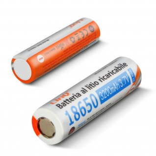 2 x 18650 Lithium 3200mAh 3, 7V wiederaufladbare Flachkopfbatterien 3200JT LinQ
