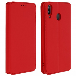 Kunstleder Cover Classic Edition Samsung Galaxy M20 - Rot