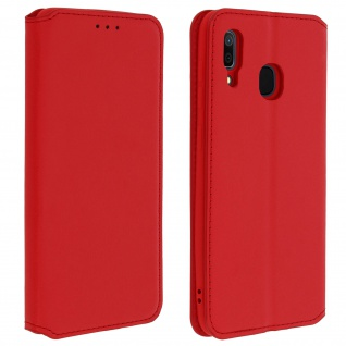 Kunstleder Cover Classic Edition Samsung Galaxy A30 - Rot