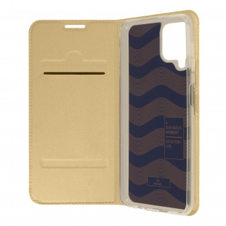 Klappetui mit Kartenfach & Standfunktion Samsung Galaxy A22 ? Gold