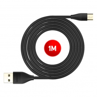 USB / Micro-USB Ladekabel / Datenkabel, Kabellänge: 1m, Ipipoo ? Schwarz - Vorschau 5