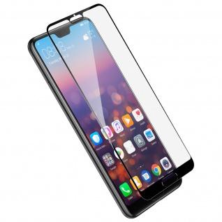 9H Displayschutzfolie gehärtetes Glas Huawei P20 Pro, kratzfest - Rand Schwarz