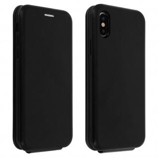 Haja Series vertikale Kunstlederhülle für iPhone X, iPhone XS ? Schwarz