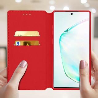 Kunstleder Cover Classic Edition Samsung Galaxy Note 10 - Rot - Vorschau 3
