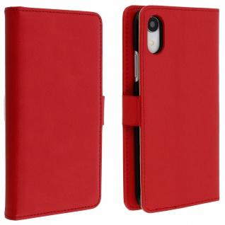 DZgogo Klappetui mit Kartenfach & Standfunktion Apple iPhone XR Rot