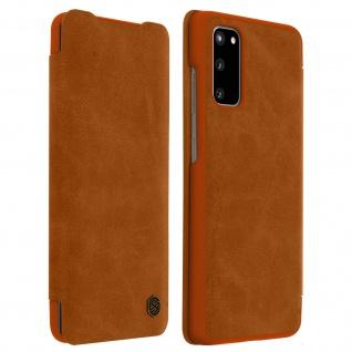 Qin Nillkin Series Leder Cover mit Kartenfach Samsung Galaxy S20 - Braun