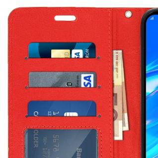 Flip Stand Cover Brieftasche & Standfunktion für Huawei Y7 2019 - Rot - Vorschau 5