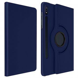 360° Klapphülle, Etui mit Standfunktion für Galaxy Tab S7 Plus 12.4 - Blau