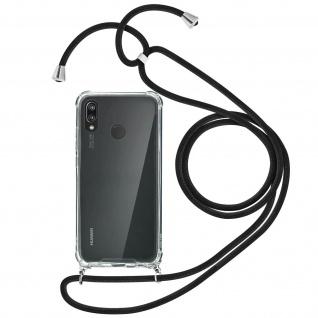 Handykette Handyhülle mit Halsband für Huawei P20 Lite - Schwarz