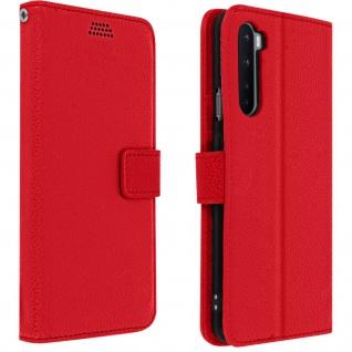OnePlus Nord Flip-Cover mit Kartenfächern & Standfunktion - Rot