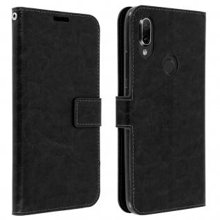 Flip Stand Cover Brieftasche & Standfunktion für Xiaomi Redmi 7 - Schwarz