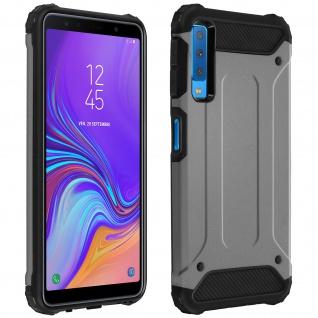 Defender II schockresistente Schutzhülle (1, 80M) für Galaxy A7 2018 - Silber