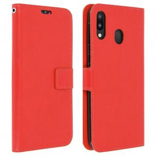 Flip Stand Cover Brieftasche & Standfunktion für Samsung Galaxy M20 - Rot