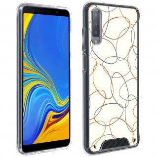 Handyhülle für Samsung Galaxy A7 2018, Made in France ? Gekritzel Design