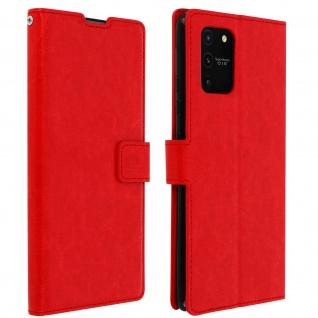Flip Stand Case Brieftasche & Standfunktion für Galaxy S10 Lite ? Rot