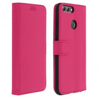 Huawei P Smart Flip-Cover mit Kartenfächern & Standfunktion - Rosa