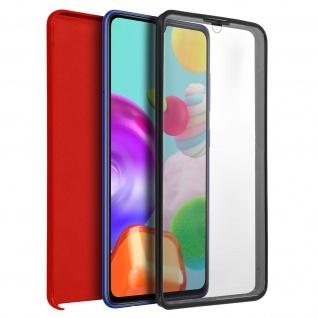 Schutzhülle für Samsung Galaxy A41, Vorder- + Rückseite ? Rot